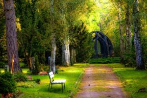 bench-carved-stones-cemetery-257360